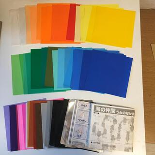 折り紙×67枚 説明書×2冊 傷や汚れあり(スケッチブック/用紙)