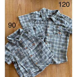キムラタン(キムラタン)のキムラタン 半袖シャツ チェックシャツ  お揃いコーデ 120 90(Tシャツ/カットソー)