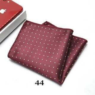 エンジレッド系 ドットハンカチーフ ポケットチーフ ネクタイ カフスボタン(ハンカチ/ポケットチーフ)