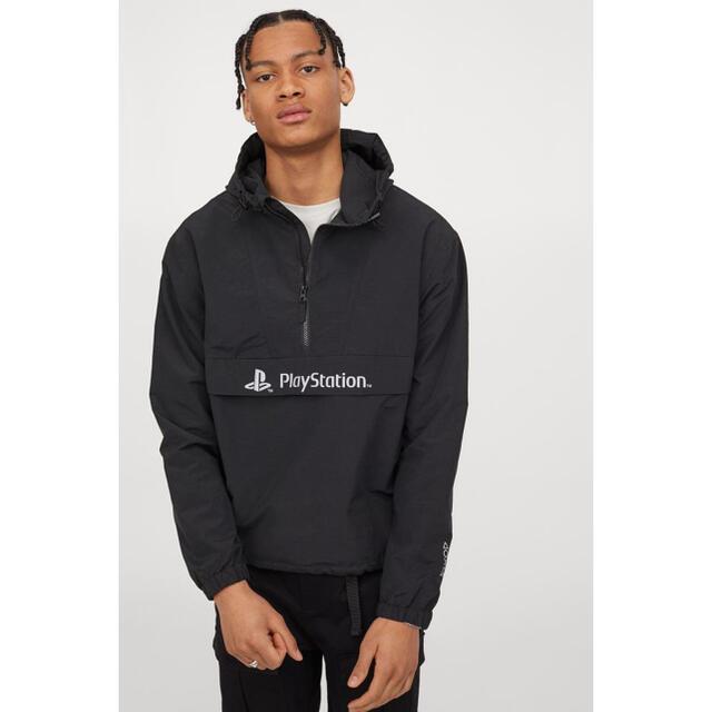 H&M(エイチアンドエム)の[本日限定価格] H&M PlayStation ナイロンジャケット メンズのジャケット/アウター(ナイロンジャケット)の商品写真