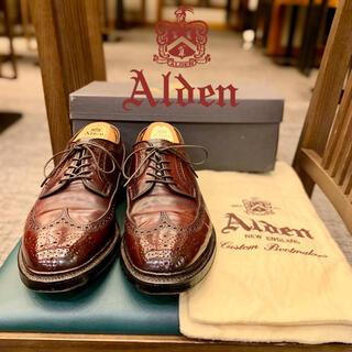 オールデン(Alden)の美品❗️《ALDEN》名作975コードバン7E 付属品有り(ドレス/ビジネス)