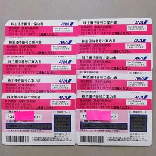 エーエヌエー(ゼンニッポンクウユ)(ANA(全日本空輸))のANA全日空株主優待券 10枚セット(航空券)