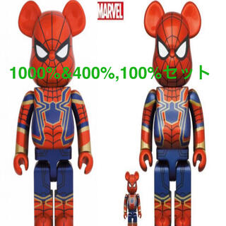 MEDICOM TOY - BE@RBRICK IRON SPIDER 1000% 400%
