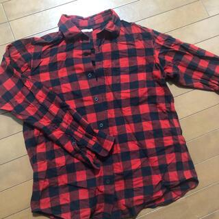 ジーユー(GU)のGU   チェックシャツ メンズ L(シャツ)