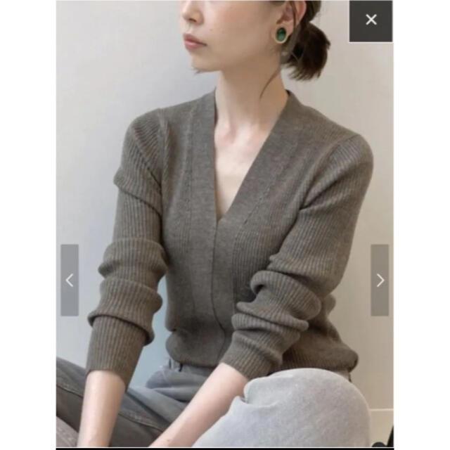 IENA(イエナ)のIENA イエナ 3x3リブ Vネックプルオーバー レディースのトップス(ニット/セーター)の商品写真