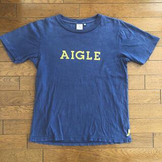 エーグル(AIGLE)のエーグル AIGLE Tシャツ 長靴 刺繍 男女兼用 S ネイビー(Tシャツ(半袖/袖なし))