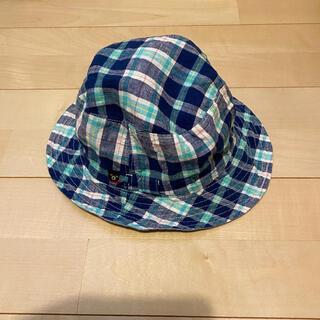 ダブルビー(DOUBLE.B)のミキハウス ダブルビー チェック柄 リバーシブルハット(帽子)