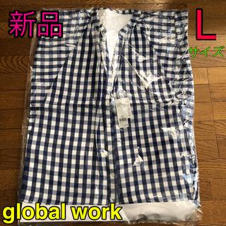 GLOBAL WORK - グローバルワーク ギンガムチェックブラウス 半袖