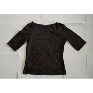 インディヴィ(INDIVI)のINDIVI カットソー サイズ 38 (Mサイズ) グレー(カットソー(半袖/袖なし))