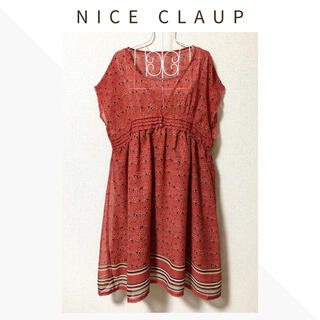 NICE CLAUP - 【新品】NICE CLAUP 〈ナイスクラップ〉フラワープリントワンピース