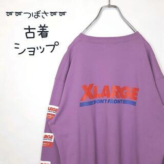 エクストララージ(XLARGE)の【大人気‼︎】X-LARGE スリーブロゴ 古着 バックプリント アースカラー (Tシャツ/カットソー(七分/長袖))