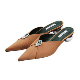 Ameri VINTAGE - Ameri VINTAGE 2WAY POINTED TOE MULE キャメル