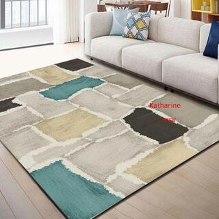 北欧の抽象風格  客間 じゅうたんは現代 ソファー茶卓じゅうたんを簡潔4