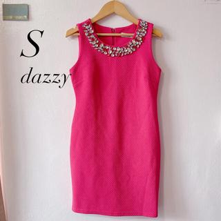 デイジーストア(dazzy store)のdazzy ビジューミニワンピース ピンク(ミニワンピース)