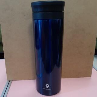 ラスト一点 ステンレス 魔法瓶 ココカフェ 真空二重マグ 500ml ネイビー(水筒)