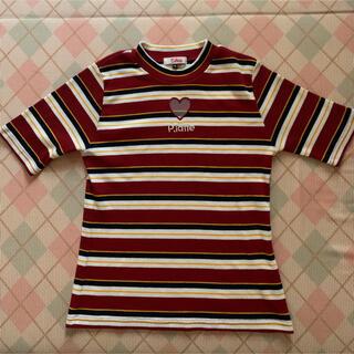 ピンクラテ(PINK-latte)の美品 Tシャツ ピンクラテ サイズM(Tシャツ(半袖/袖なし))