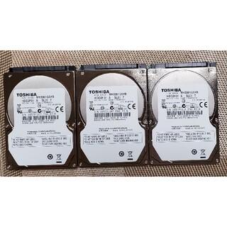 トウシバ(東芝)のタイムセール HDD 500GB TOSHIBA SATA 2.5インチ 3本組(PCパーツ)