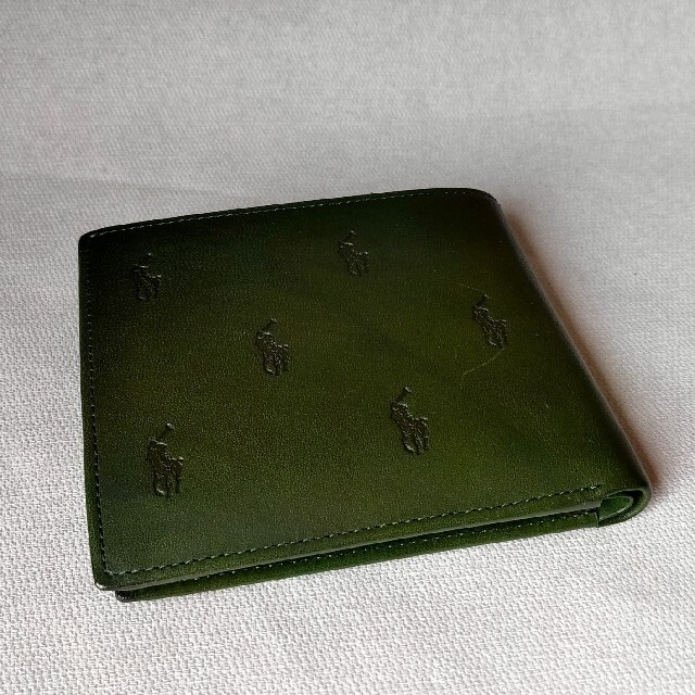 POLO RALPH LAUREN(ポロラルフローレン)のポロ ラルフローレン 二つ折り財布 緑 メンズのファッション小物(折り財布)の商品写真