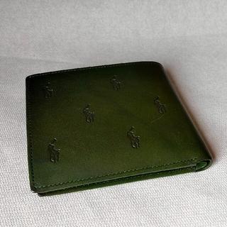 POLO RALPH LAUREN - ポロ ラルフローレン 二つ折り財布 緑