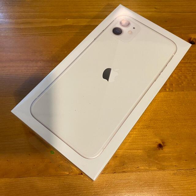 Apple(アップル)の新品未開封 iPhone11 ホワイト 64GB スマホ/家電/カメラのスマートフォン/携帯電話(スマートフォン本体)の商品写真
