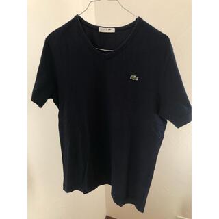ラコステ(LACOSTE)のラコステ ネイビーTシャツ サイズ4(L相当)TH631E 【日本製】(Tシャツ/カットソー(半袖/袖なし))
