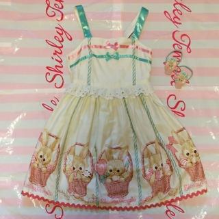 シャーリーテンプル(Shirley Temple)のシャーリーテンプル うさぎ ジャンパースカート 120 セット(ワンピース)