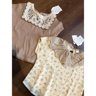 フタフタ(futafuta)の【売りつくし 】新品 テータテート  花柄 ブラウス tete a tete(Tシャツ)
