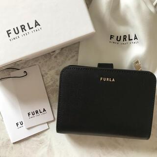 Furla - 新品!フルラ FURLA 二つ折り財布 ブラック 黒