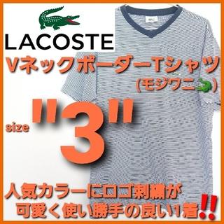ラコステ(LACOSTE)のLACOSTE ラコステ✨Vネック ボーダー 半袖Tシャツ‼️モジロゴ 大沢商会(Tシャツ/カットソー(半袖/袖なし))