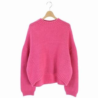 LE CIEL BLEU - ルシェルブルー 20AW オーバーサイズニット セーター 長袖 36 ピンク