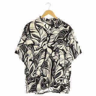 COOTIE - クーティー プロダクションズ 19SS 半袖シャツ オープンカラー L 黒 白
