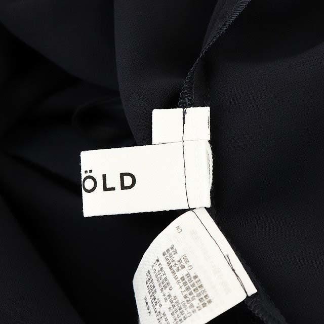 ENFOLD(エンフォルド)のエンフォルド 19SS イレギュラーヘムブラウス フレンチスリーブ 38 紺 レディースのトップス(シャツ/ブラウス(半袖/袖なし))の商品写真