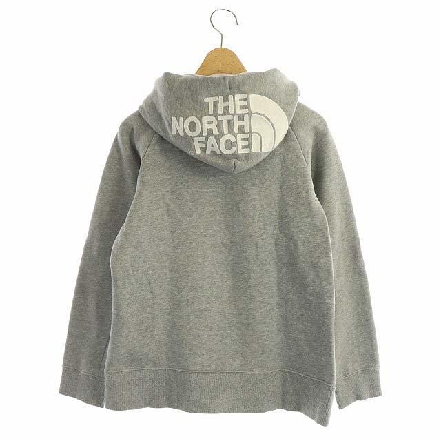THE NORTH FACE(ザノースフェイス)のザノースフェイス フードフルジップパーカー スウェット 長袖 刺繍 S グレー レディースのトップス(パーカー)の商品写真
