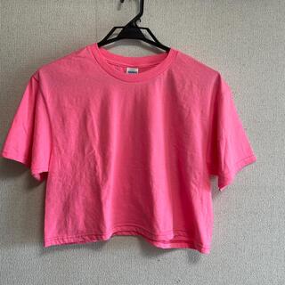 スピンズ(SPINNS)の【美品】ショート丈Tシャツ(Tシャツ(半袖/袖なし))