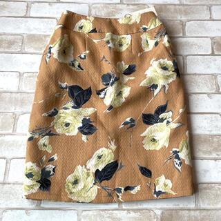 ミーア(MIIA)の新品!MIIA!フラワージャガードスカート!ミーア(ひざ丈スカート)