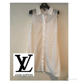 LOUIS VUITTON - Louis Vuitton 総モノグラム刺繍 ワンピース