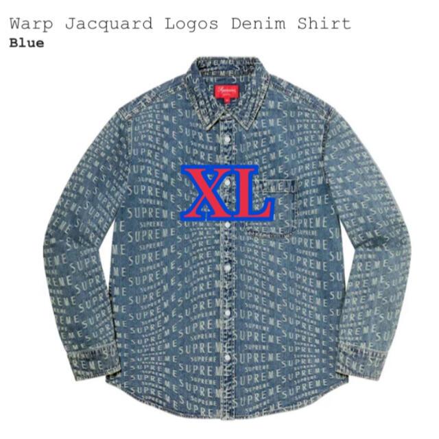 Supreme(シュプリーム)のSupreme Warp Jacquard Logos Denim Shirt メンズのトップス(シャツ)の商品写真