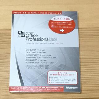 マイクロソフト(Microsoft)のMicrosoft Office Personal 2007 (PC周辺機器)