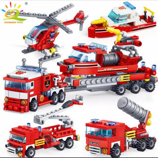 レゴ(Lego)の格安!LEGO互換品 救急隊セット 全5種類の変形可能!(積み木/ブロック)