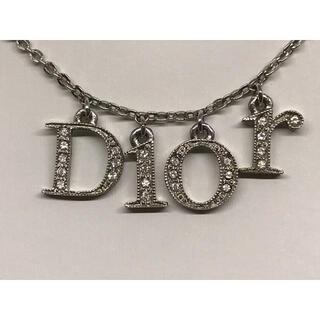 クリスチャンディオール(Christian Dior)のクリスチャンディオール Dior シルバーラインストーン ネックレス(ネックレス)