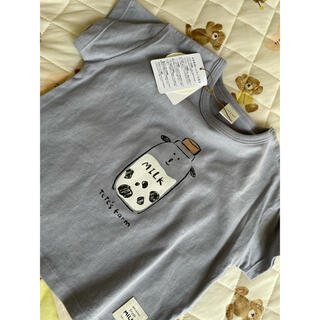 フタフタ(futafuta)のテータテート 牛 Tシャツ(ロンパース)