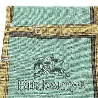 バーバリー(BURBERRY)のバーバリー 刺繍ロゴハンカチーフ(ハンカチ/ポケットチーフ)