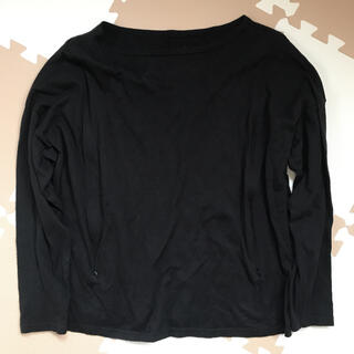 ベルメゾン(ベルメゾン)のマタニティ 授乳服 長袖カットソー 黒 Lサイズ ベルメゾン(マタニティトップス)