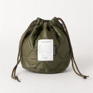 ビューティアンドユースユナイテッドアローズ(BEAUTY&YOUTH UNITED ARROWS)のJANE SMITH 巾着 カーキ(ハンドバッグ)