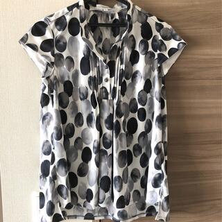 ナラカミーチェ(NARACAMICIE)のNARACAMICIE グラデーションドットプリントジャージ半袖カットソーシャツ(シャツ/ブラウス(半袖/袖なし))