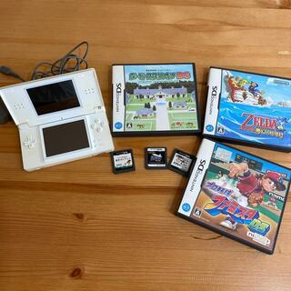 ニンテンドーDS(ニンテンドーDS)のまとめ売り NINTENDO DS lite + カセット6つセット(携帯用ゲーム機本体)