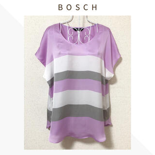 ボッシュ(BOSCH)の【美品・キズあり】BOSCH〈ボッシュ〉フレンチスリーブ光沢ブラウス*38*(シャツ/ブラウス(半袖/袖なし))