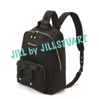 ジルバイジルスチュアート(JILL by JILLSTUART)のジルバイジルスチュアート リュック  ブラック 編み上げリボンデザイン(リュック/バックパック)