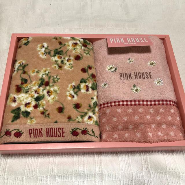 PINK HOUSE(ピンクハウス)のピンクハウス PINKHOUSE ウォッシュタオル ハンドタオル 新品 レディースのファッション小物(ハンカチ)の商品写真