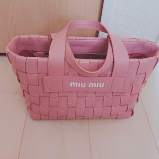 miumiu - ミュウミュウナッパレザートートバッグ